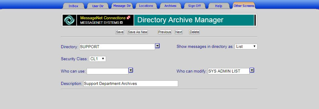 Directory Archive Manager